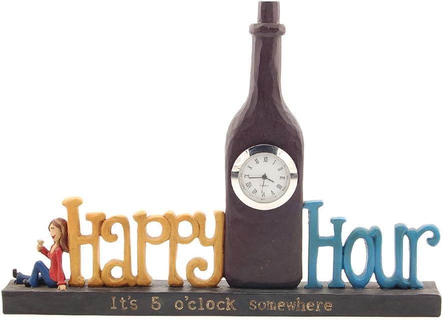 Blossom Bucket Happy Hour Clock Decor
