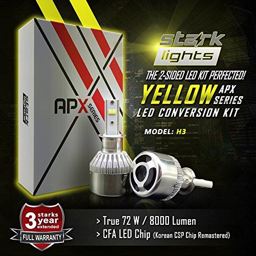 LED Light 3000K Yellow High Power Kit - Fog Light Bulbs - H3 ()