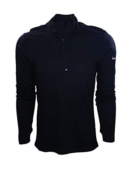 9dcb18c5 Image Unavailable. Image not available for. Color: Nike Run Dri-FIT Wool  1/2 Zip Long Sleeve Top Mens BLACK (