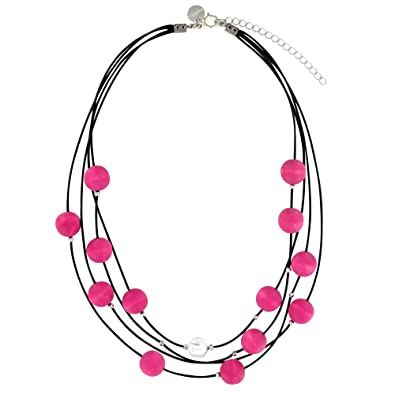 Aarikka KARDEMUMMA necklace with wooden beads, 90 cm long, pink