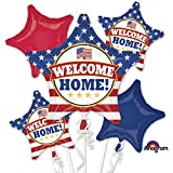 Welcome Home Balloon Bouquet, patriotic, includes 5 balloons