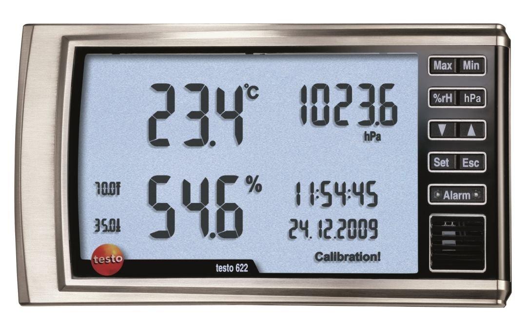 Testo 0560 6220 Hygrometer with Pressure Indicator, 0 to 100 Percent RH Range, 0.1 Percent RH Resolution