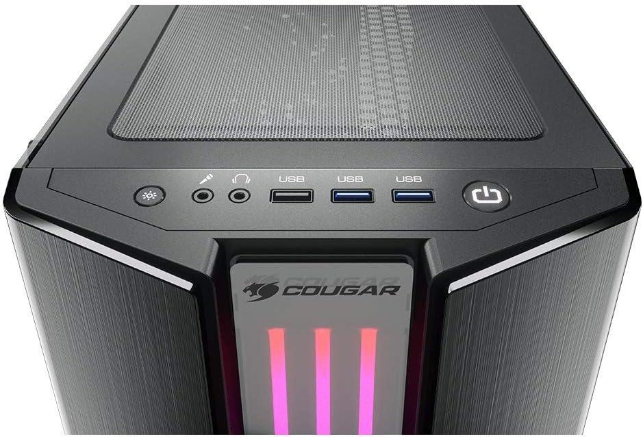 COUGAR Gaming Gemini S Midi-Tower Negro, Gris - Caja de Ordenador (Midi-Tower, PC, Metal, Vidrio Templado, Negro, Gris, ATX,CEB,EATX,Micro ATX,Mini-ATX, Juego): Amazon.es: Informática