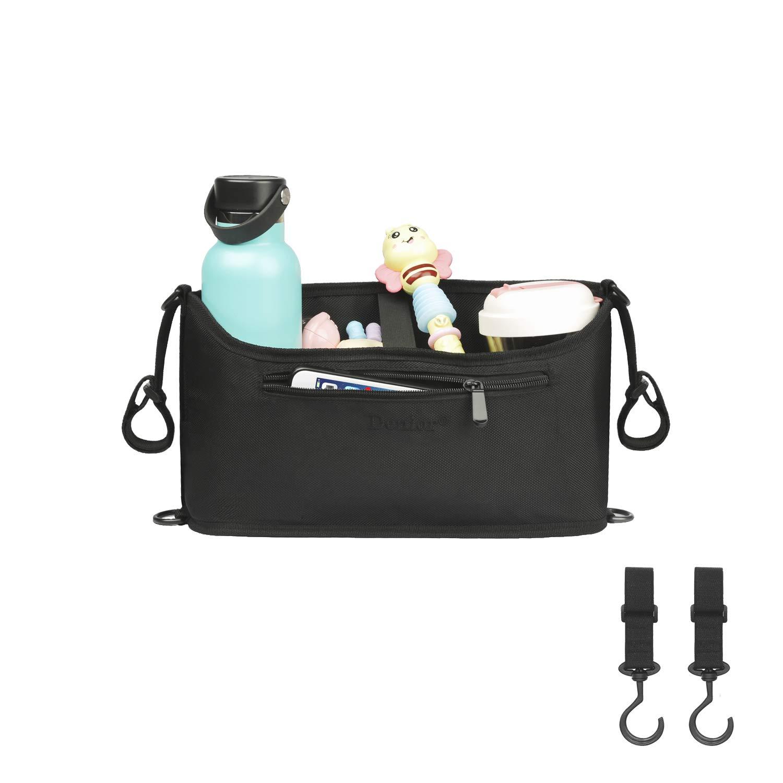 2Pack,Stroller Organizer Bag,Baby Stroller , Pram Carriage Stroller, Pushchair Stroller , Luxury Strollers ,Diapers Newborn, Baby Diapers,Milk Powder,Baby Bottle,Nipples Stroller Hooks
