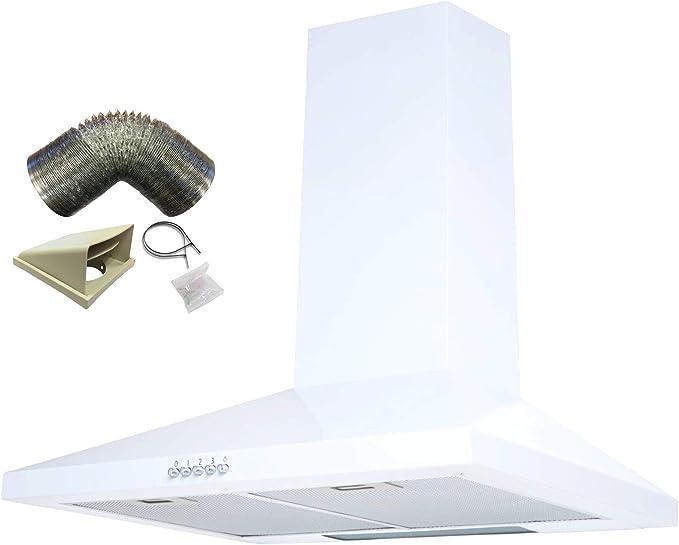 Sia ch71wh 70 cm blanco chimenea cocina campana extractor + 1 m juego de conductos: Amazon.es: Grandes electrodomésticos