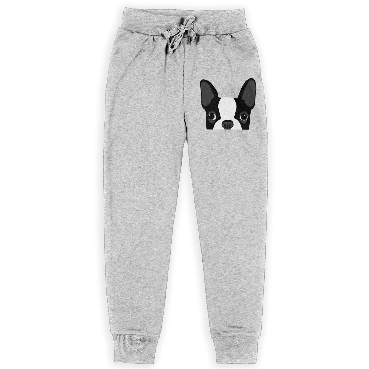 Bing4Bing Dog Face Boys Cotton Sweatpants Casual Joggers Pants Active Pants