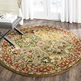 "Safavieh Heritage Collection HG111A Handmade Multicolored Wool Round Area Rug, 3 feet 6 inches in Diameter (3'6"" Diameter)"