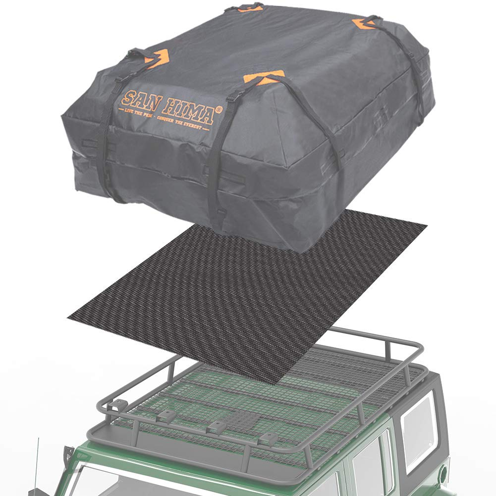 6 Months Warranty 51x43 Universal Roof Rack Pad for Rooftop Cargo Bag FieryRed Roof Cargo Bag Protective Mat