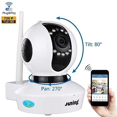 IP Camera Home Wifi Wireless Security Cameras 720P HD Pan Tilt-JUNING C7823