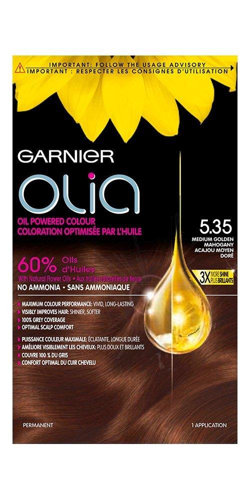 Garnier Olia Hair Color in 3.6 Deep Red. Ammonia-Free, Oil-Powered, 3x Shine boi-opp-klo-uyi7004