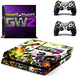 Al-Mart PS4 Vinyl Skin Sticker for Sony PlayStation 4 Console System + 2 Decals for PS4 Controller -- Plants VS. Zombies Garden Warfare 2