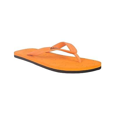 cdb94d56c Duke Men s Orange   Black Coloured PVC Slippers 9  Buy Online at Low ...