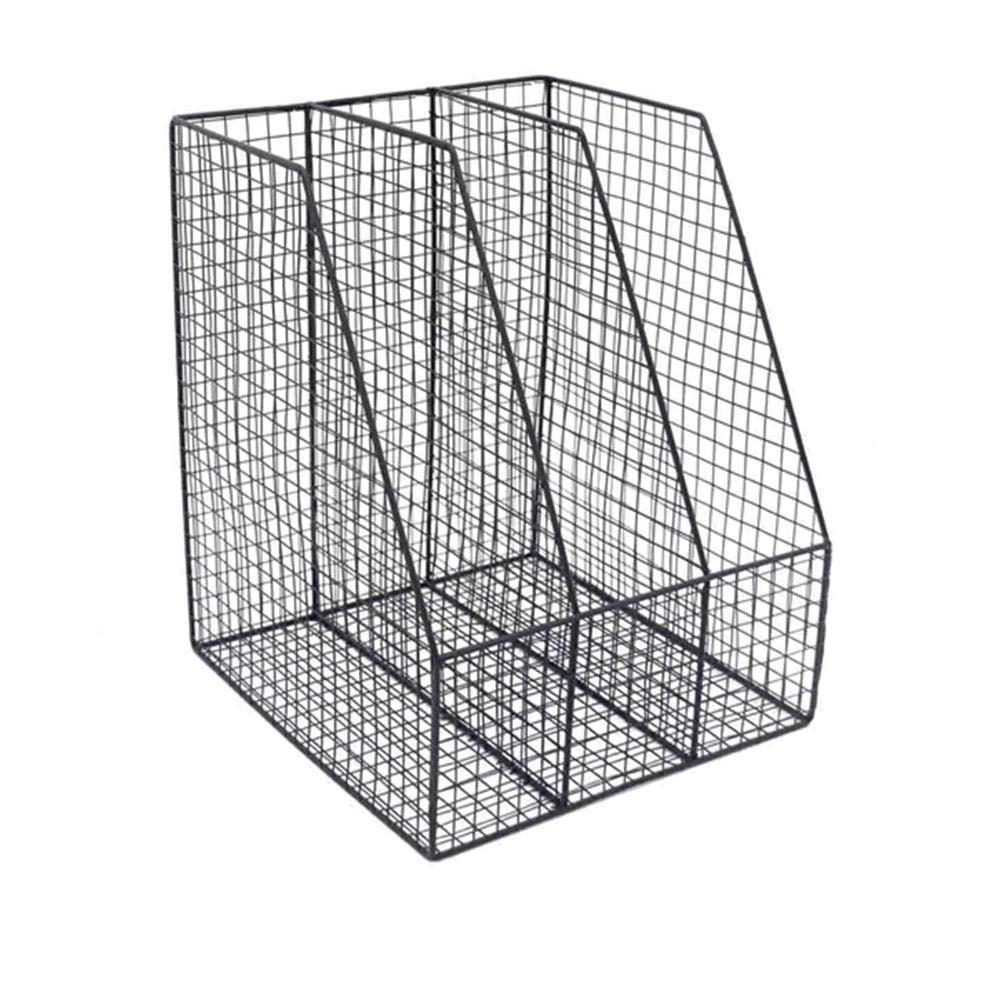 Benzara Functionally Designed Wire Mesh Metal Letter Holder, 10' x 9.5' x 12', Black 10 x 9.5 x 12 BM161401