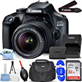 Canon EOS 4000D / Rebel T100 with EF-S 18-55mm III Lens Starter Bundle with 32GB SD, Memory Card Reader, Gadget Bag, Blower,