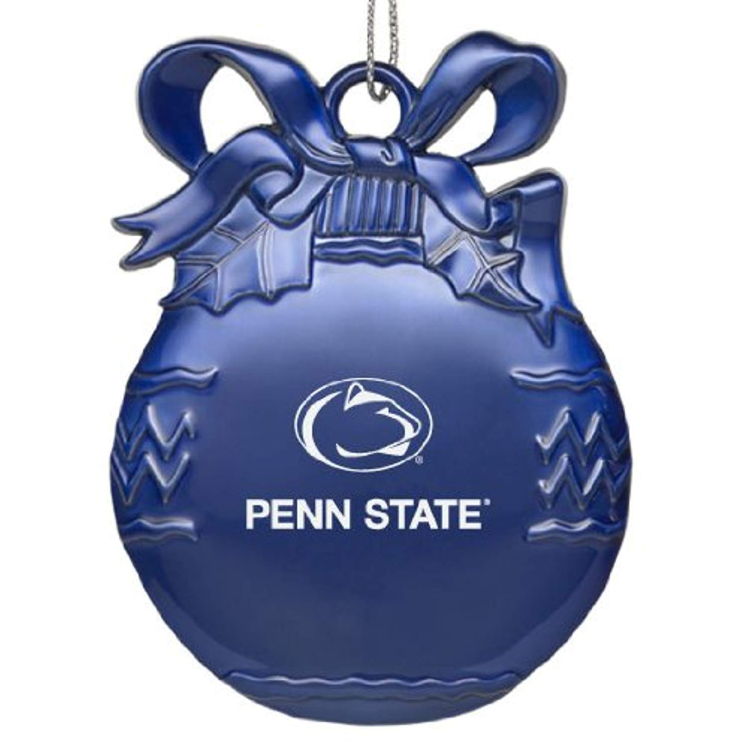 Blue Pewter Christmas Tree Ornament LXG Penn State University