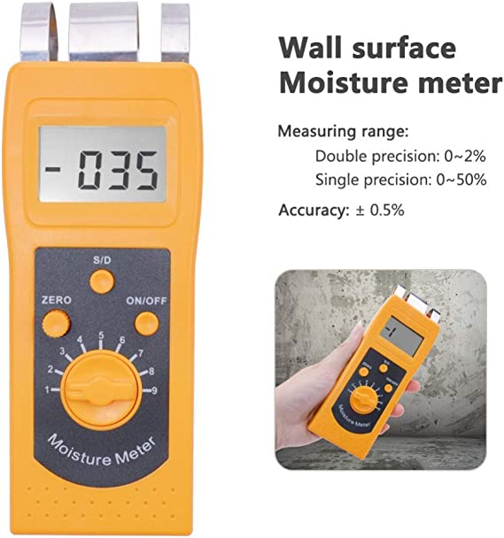 HYY-YY Wall Conceret Inductive Moisture Meter High Frequency Water Content Analyzer with Digital Display//Sensors// 10 Gears for Floor Cement Gypsum Board Marble Brick Glass Circuit Board Drill Bits