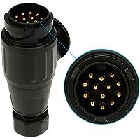 KKmoon Mat materiaal 13-polige aanhanger stekker 12 V 13-polige tow bar stekker N-type-voertuig slepen