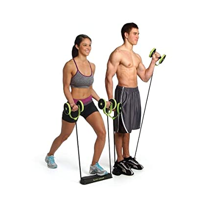 4 Wheel Ab Roller Exerciser Abdominal Muscle Fitness Training Workout Home Gym Professional Design Abdominal Exercisers Fitness Equipment & Gear