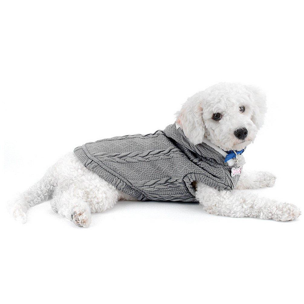 smalllee/_lucky/_store Pull /à Capuche rembourr/é Gilet Manteau pour Temps Froid Chihuahua Capuche Chien Chat Manteau dhiver V/êtements pour Chiens de Petite Taille Chaud Bleu M