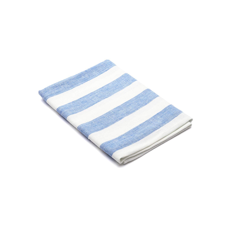 Linenme Philippe Serviette de Bain en Lin Bleu