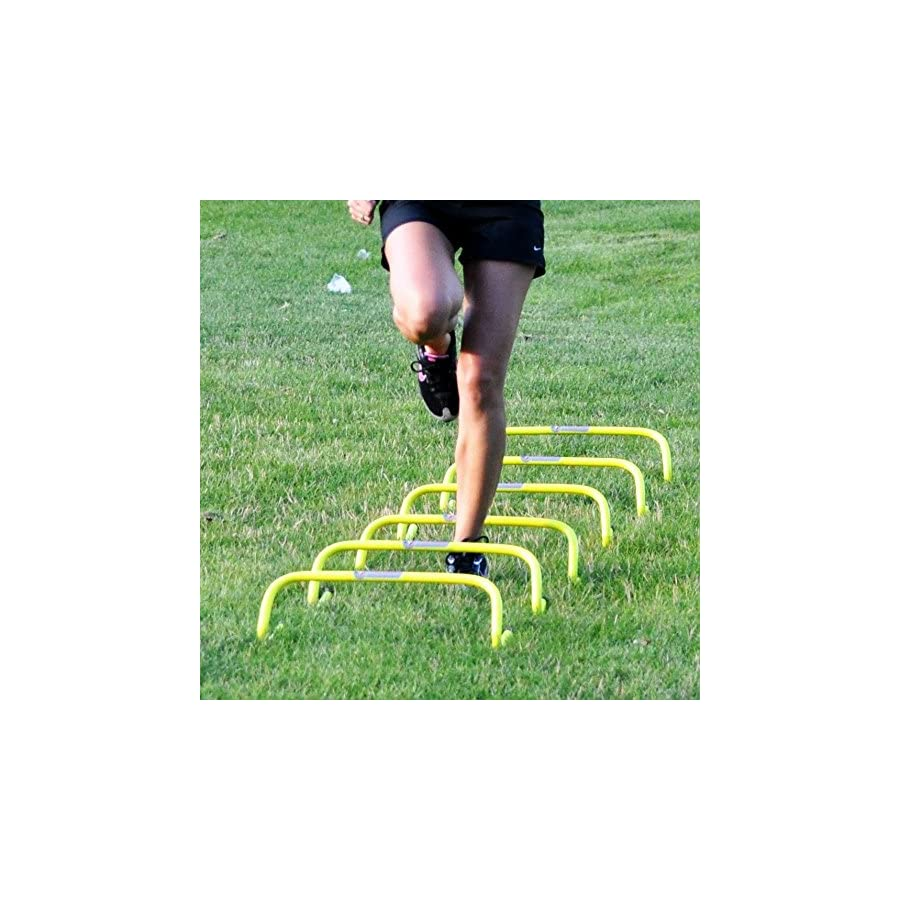 "Speedster 6"" Mini Hurdles, 6pk with Carrying Strap Speed & Agility Training"