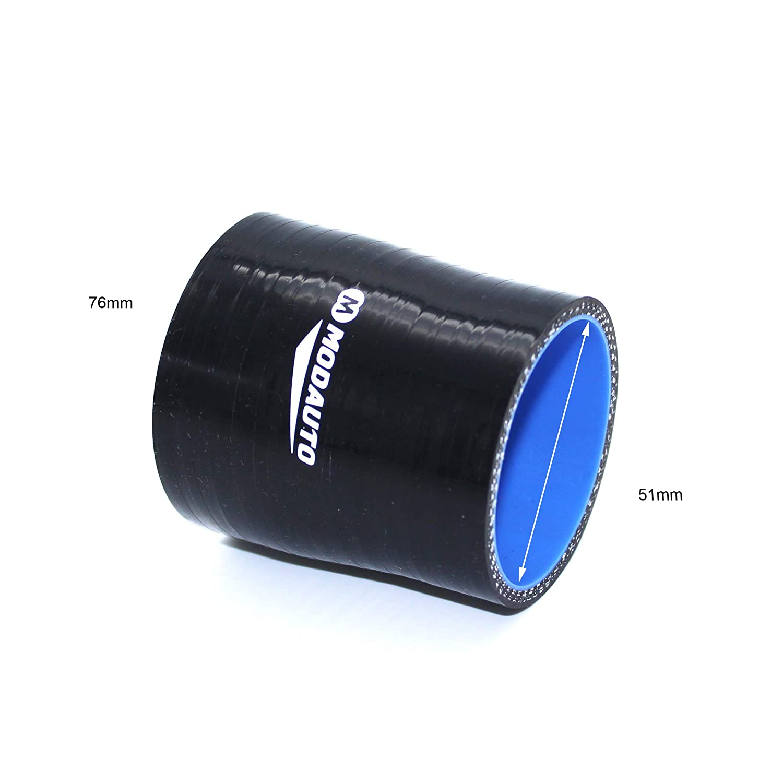 MODAUTO Manguera de Silicona Acoplador Universal Alto Rendimiento Modelo E356B Tubo de Silicona Reductor 3//4 Capas Diametro 51-57 mm
