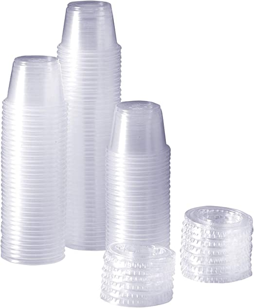 Solo 100-2050 1-oz 2 Packs of 250 Cups White Treated Paper Pleated Souffl/é Portion Cup