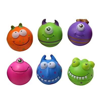 Curious Minds Busy Bags Set of 6 Monster Stress Balls - Fidget Set for Students, Adults and Children Office Calming Toy: Toys & Games