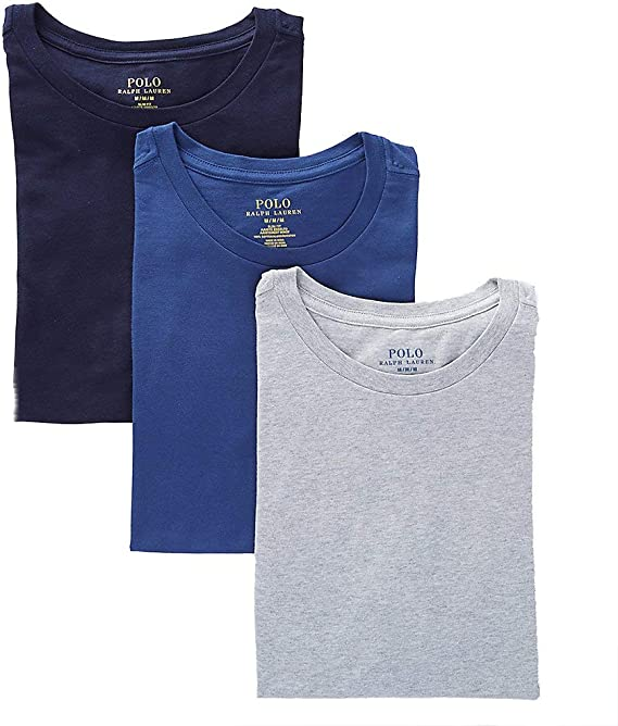 Polo Ralph Lauren S//S Black-Red Cotton Comfort Blend Crew-Neck T-Shirt 2 Pack