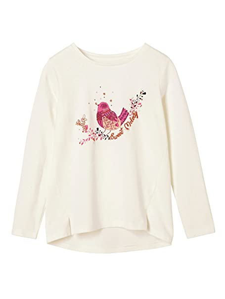 64d323834 VERTBAUDET Camiseta con Pájaro Bordado Niña Blanco Claro Liso con Adorno  14A  Amazon.es  Ropa y accesorios