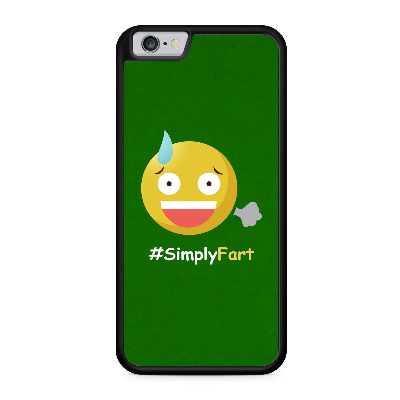 Simply Emoji pedo Apple iPhone 6/6S silicona negro funda ...