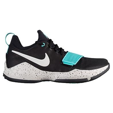 0809b6b65088e Nike Men's PG 1 Black/Aqua Basketball Shoes (9.5)