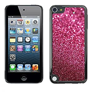 Qstar Arte & diseño plástico duro Fundas Cover Cubre Hard Case Cover para Apple iPod Touch 5 ( Glitter Pink Purple Bling Sand Reflective)