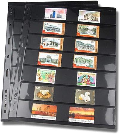 CVERY 10 páginas de Sellos para álbum de Hojas, Hojas Sueltas de PVC, Soportes de Sellos para Papel, Dinero, Fotos, colector, no Incluye Funda, Show, g: Amazon.es: Hogar