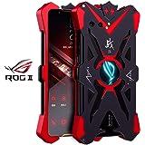 CASEWRS ケース Asus ROG Phone II ZS660KL ケース 擦り pu [傷防止] [衝撃吸収] [耐衝撃] 全面保護 指紋防止 ソフト 液体シリコン スマホ ケース TPU(Red)