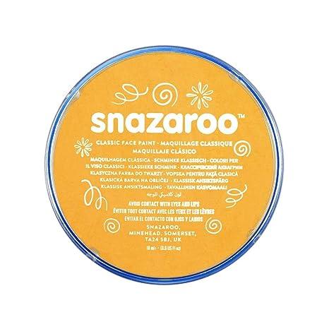 Snazaroo - Pintura facial y corporal, 18 ml, color amarillo ocre