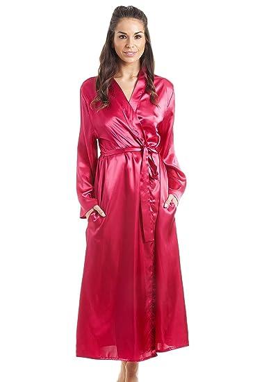 01d81dd2963 Robe de Chambre en Satin Femme - Luxueuse - Rose Fuchsia  Camille   Amazon.fr  Vêtements et accessoires