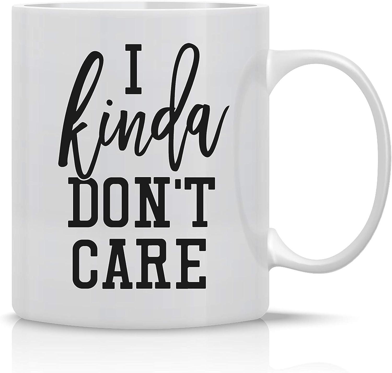 I Kinda Don't Care 11OZ Nurse Coffee Mug - Funny Lazy Mug - Perfect for Lazy People - Mugs For Family, Boss and Co-Workers By Tee-O-Rama