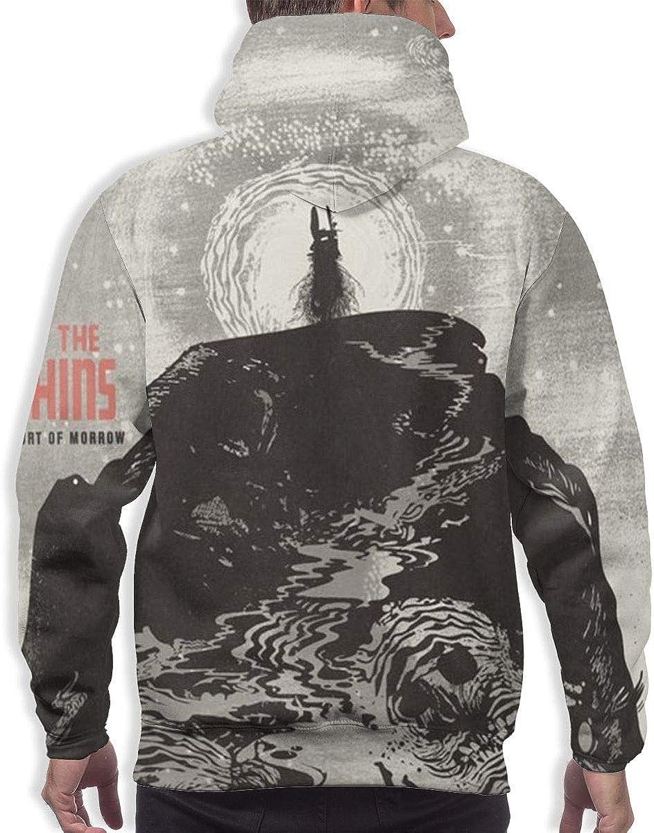 Majunnn The Shins Port of Morrow Mens Warm Hooded Sweatshirt Black