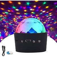 ROVLAK Luces de Discoteca Mini Control de Voz Portátil USB 3 Colores RGB LED Efecto Estroboscópico Luz Nocturna Adecuado…