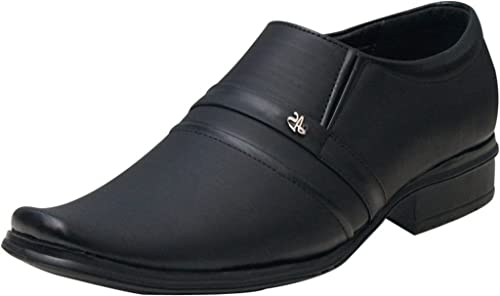 e15117b00abb Shoe Rock Vision(SRV) Mens Black Synthetic Leather Formal Shoes  Buy Online  at Low Prices in India - Amazon.in