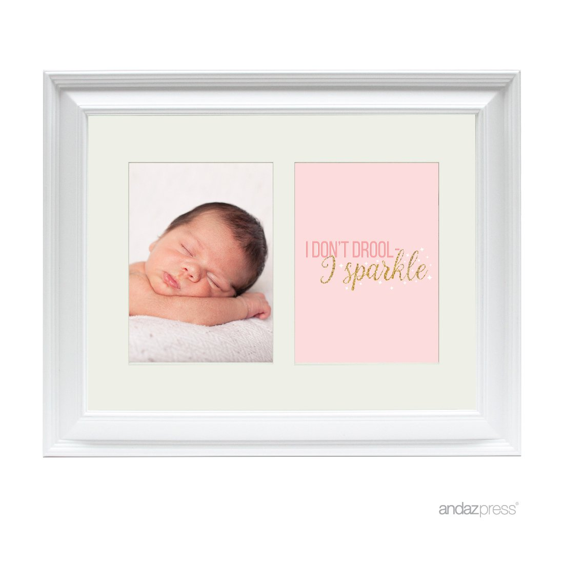 Buy Andaz Press Double White 5x7 Inch Photo Frame I Don T Drool I Sparkle 1 Pack Picture Gift Wall Art Online At Low Prices In India Amazon In