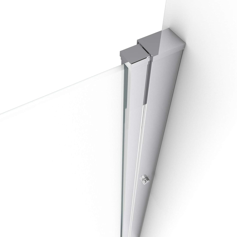 Profile Chrome Flappy Chrome 80-80x200cm Aurlane Paroi de Douche /à Double Portes PIVOTANTES Verre Transparent 6mm