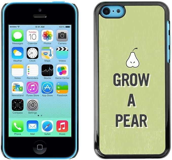 PC/Aluminum Funda Carcasa protectora para Apple Iphone 5C Pear Raw Food Fruit Healthy Green Lifestyle Eco / JUSTGO PHONE PROTECTOR: Amazon.es: Electrónica