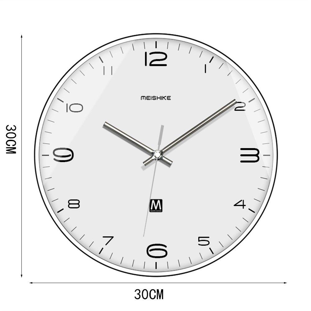 IAIZI ノスタルジックなクォーツ時計、ダイニング商店生活のリビング寝室のベッドルームの事務所スキャンクロックミュートぶら下げ忠Danyingクロック直径30CM (色 : 30*30CM) B07D64FQP430*30CM
