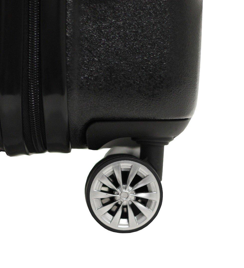 Garantie 2 Ans -SAV en France Valise Moyenne 65cm ALISTAIR Smart- ABS Ultra L/ég/ère- Marque fran/çaise Noir