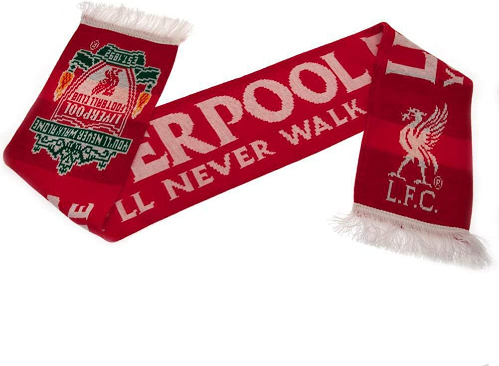 LIVERPOOL FC OFFICIAL YNWA Scarf Classic  Red//wht//Grn