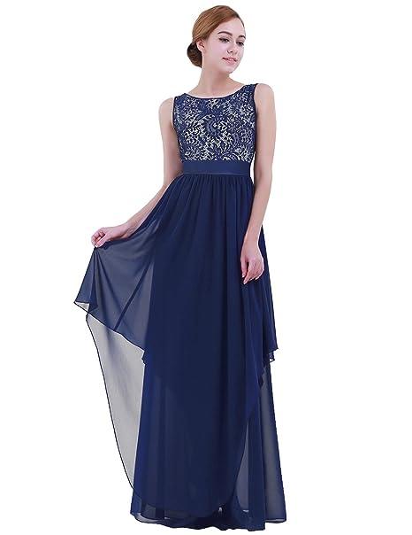 iEFiEL Vestido de Cóctel Fiesta Boda para Mujer Vestido Largo Floreado de Noche Gala Mujer Dama