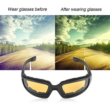 Haiyemao Gafas de Moda Gafas de Motocicleta Gafas de ...