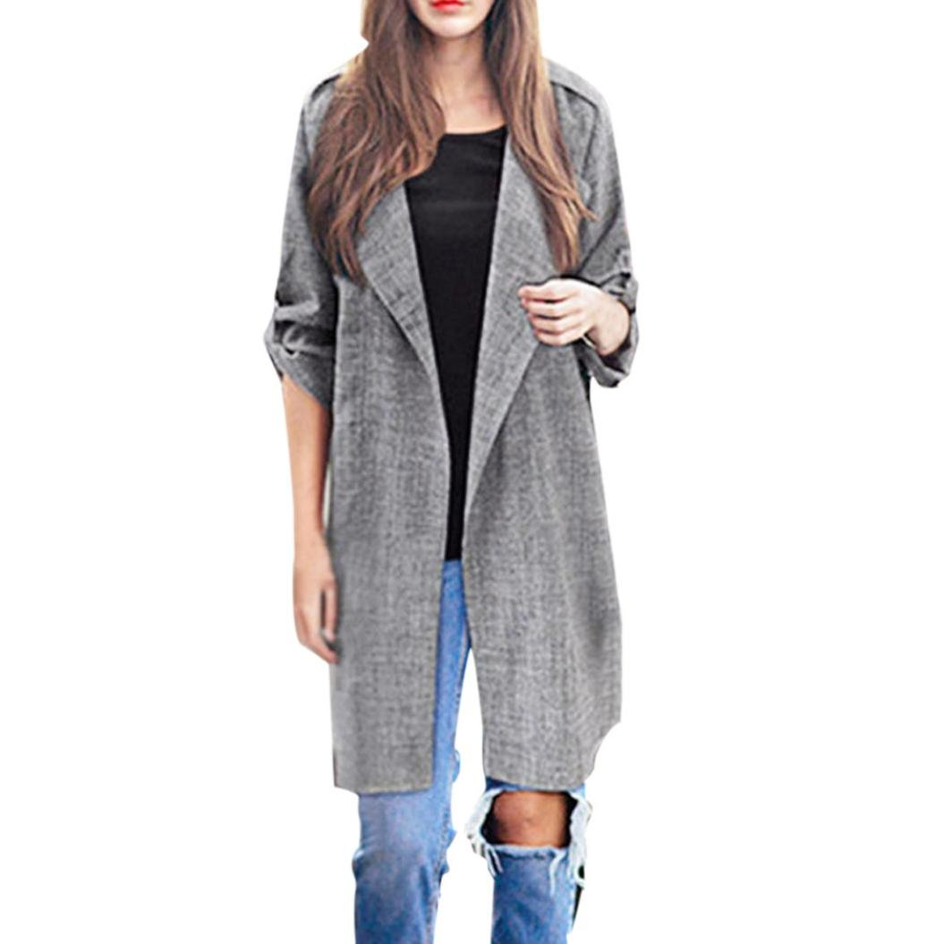 Clearance Jackets Coat Cardigan Open Front Trench Coat Long AfterSo Womens